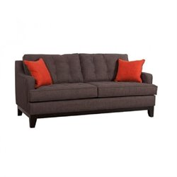 Brika Home Sofa in Charcoal and Burnt Orange
