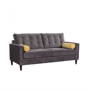 Brika Home Sofa in Slate Gray and Golden