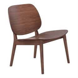 Brika Home Lounge Chair in Walnut