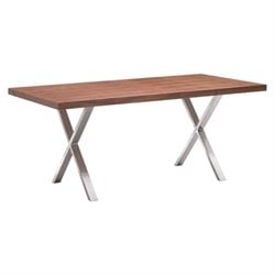 Brika Home Dining Table in Walnut