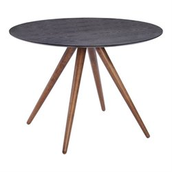 Brika Home Round Dining Table in Walnut