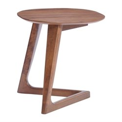 Brika Home End Table in Walnut