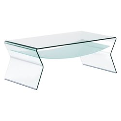 Brika Home Glass Coffee Table in Frosted