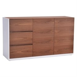 Brika Home Buffet in Walnut and White