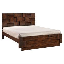 Brika Home King Panel Bed in Walnut