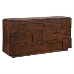 Brika Home Double Dresser in Walnut