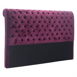 Brika Home Velvet King Headboard in Wine