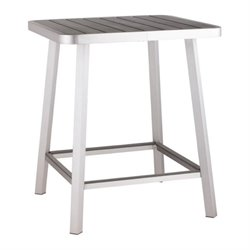 Brika Home Outdoor Pub Table in Gray