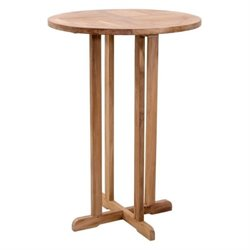 Brika Home Round Outdoor Pub Table in Natural