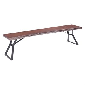 Brika Home Bench in Distressed Cherry Oak