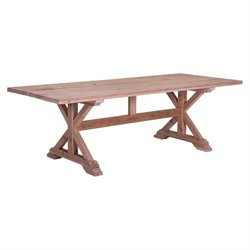 Brika Home Dining Table in Natural Fir