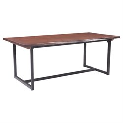 Brika Home Dining Table in Distressed Cherry Oak