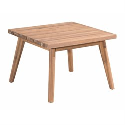 Brika Home Square Patio End Table in Natural