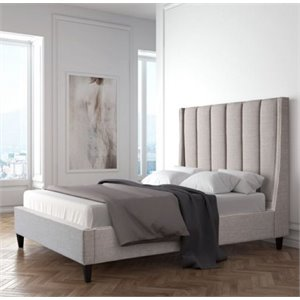MER-1504 Gilded Age Upholstered Bed in Dove Gray