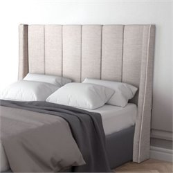 Brika Home Upholstered Full Headboard in Dove Gray