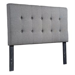 Brika Home Upholstered Full Headboard in Gray