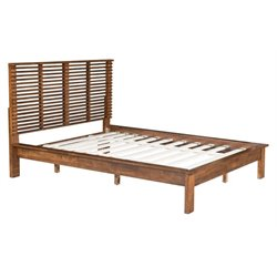 MER-1504 Linea Upholstered Bed in Walnut