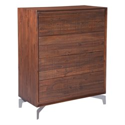 Brika Home 4 Drawer Chest in Chestnut