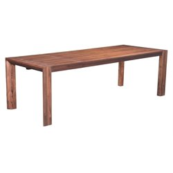 Brika Home Extendable Dining Table in Chestnut