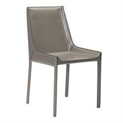 Brika Home Dining Side Chair in Stone Gray (Set of 2)