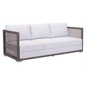 Brika Home Patio Sofa in Cocoa and Light Gray