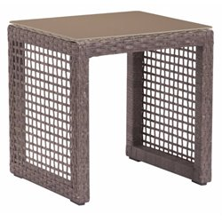 Brika Home Patio End Table in Cocoa