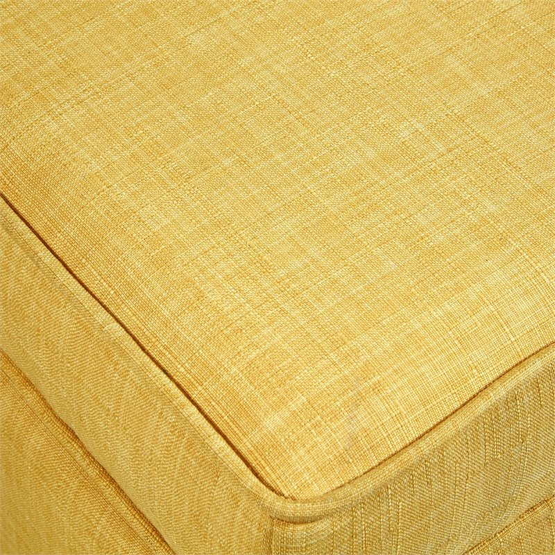 Brika Home Tufted Storage Ottoman in Yellow