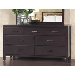 Bowery Hill 7 Drawer Double Dresser in Espresso