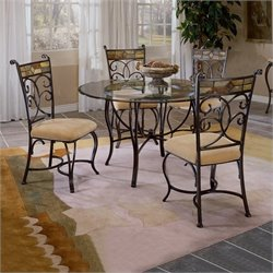 Bowery Hill 5 Piece Round Dining Table Set
