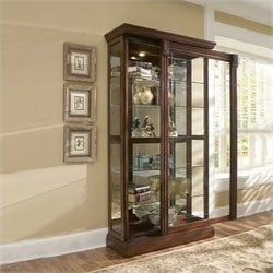 Bowery Hill Cherry Curio Cabinet