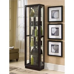 Bowery Hill Chocolate Cherry II 21 Inch Wide Curio Cabinet