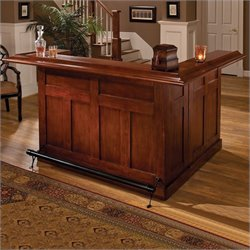 Bowery Hill Cherry Large Wrap Around Home Bar