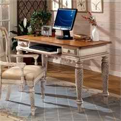 Bowery Hill Wood Writing Desk in Antique White