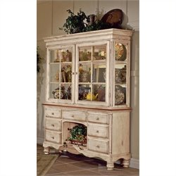 Bowery Hill Buffet and Hutch in Antique White Finish