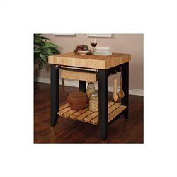Bowery Hill Butcher Block Kitchen Island