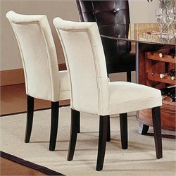 Bowery Hill FabricParson Dining Chair in Beige