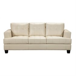 Bowery Hill Contemporary Leather Sofa