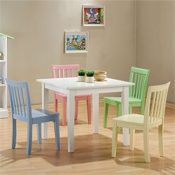 Bowery Hill 5 Piece Wood Kids Table Set