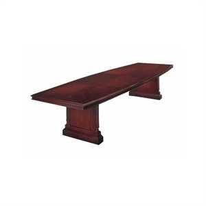 Bowery Hill Boat Shaped 10' Conference Table with Slab Base in Cherry