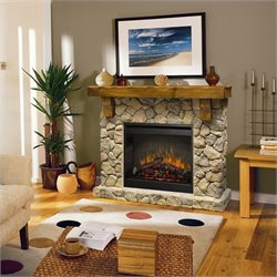 Bowery Hill Natural Stone Free Standing Electric Fireplace