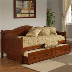 Bowery Hill Wood Daybed in Cherry Finish With Trundle