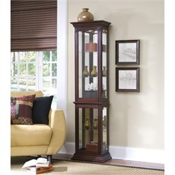 Bowery Hill Curio Display Cabinet in Gallery Finish