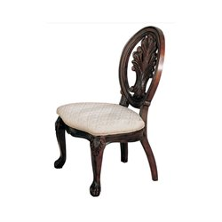 Bowery Hill Traditional Dining Chair in Dark Cherry Finish
