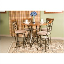 Bowery Hill 5 Piece Dining Set in Medium Cherry