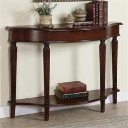 Bowery Hill Console Table with 4 Reeded Legs