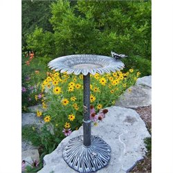 Bowery Hill Butterfly Bird Bath in Antique Pewter
