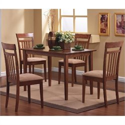 Bowery Hill 5 Piece Dining Set in Walnut Finish