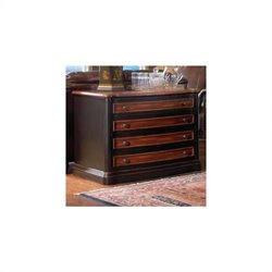 Bowery Hill 2 Drawer File Cabinet in Cappuccino and Dark Oak