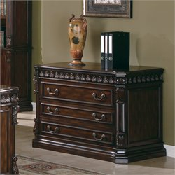Bowery Hill 3 Drawer File Cabinet in Rich Brown