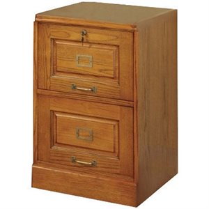 Bowery Hill 2 Drawer File Cabinet in Warm Honey